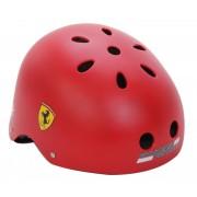 """Ferrari® """"Old School"""" Piros színű """"M"""" fejvédő sisak gördeszkához - bukósisak rollerhez"""