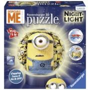 Ravensburger Puzzle 3D Minions cu lumina 72 piese