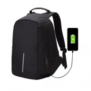 Multi-Function Large Capacity Travel Anti-theft Security Casual Backpack Laptop Computer Bag with External USB Charging Interface for Men / Women Size: 42 x 29 x 14 cm(Black)