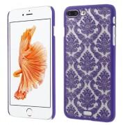 Paarse hardcase henna patroon iPhone 7 Plus transparant hoesje