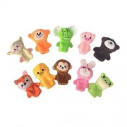 Remeehi Hand Puppet Animals Plush Animal Toys Story Telling Props Educational Toys 7.5cm 10pcs Eay Package