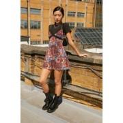 Urban Outfitters UO - Mini robe imprimée cachemireu00a0en voile et en dentelle- taille: M