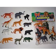 Siddhi Vinayak™ Zoo Wild Animals Figures Set for Kids/Young Ones Pack of 12 Animals (Medium Size) (Multi Colour, Animals May Vary Pack to Pack