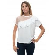 Red Valentino T-shirt girocollo mezza manica Bianco Cotone Donna