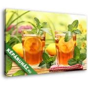 Hűsítő tea mentával és citrommal (40x25 cm, Vászonkép )