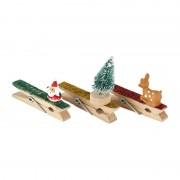 Xenos Clips met kerstdecoratie - set van 3