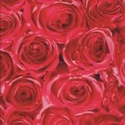 Piros rózsa mintás öntapadós tapéta