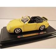 "Bburago Die Cast Model Cars Bburago Porsche 911 Carrera Cabriolet Yellow Convertible Model Car 7 ""es"