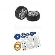 Alcoa Prime 92pcs/Set Plastic Gears Rack Pulley Belt Worm Shaft RC Car Toy Models Part