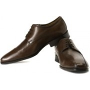 Clarks Dexie Over Genuine Leather Lace Up Shoes For Men(Brown)