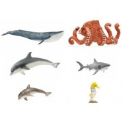 Schleich Wildlife Farm Set of Six (6) Water Animals and Birds Packaged Together Ready to Give: Includes Flamingo...