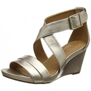Clarks Women's Acina Newport Gold Leather Fashion Sandals - 5.5 UK/India (39 EU)