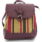 X Y SHOP Korean Style Bag For Women Backpack(Maroon, 12 L)