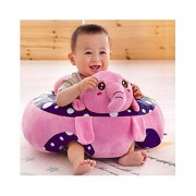 Samaaya Baby Soft Plush Cushion Cotton Sofa Seat Infant Safety Car Chair Learn to Sit Stool Training Kids Support Sitting for Dining (Pink Elephant)