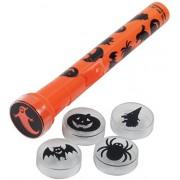 "Loftus International Spooky 5 Different Lenses Halloween Flashlight (6 Piece), 6"", Orange"