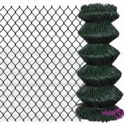 vidaXL Žičana ograda od pocinčanog čelika 0,8 x 25 m zelena