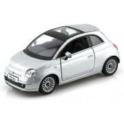 2007 Fiat 500 1/28 Silver