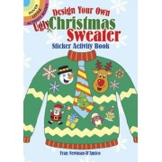 """Design Your Own """"Ugly"""" Christmas Sweater Sticker Activity Book, Paperback"""