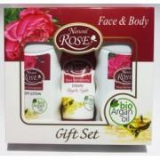 ROSE&ARGAN Set cadou: sampon, lotiune corporala, crema faciala zi/noapte