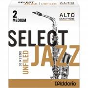 D'Addario Woodwinds Saxofón Alto 2M Unfiled cajita con 10 cañas