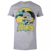 Geek Clothing Camiseta DC Comics Batman Retro - Mujer - Gris - M - Gris
