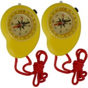 2 Piece Military Hiking Camping Lens Magnetic Compass - PS32
