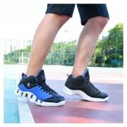 Zapatos De Baloncesto Para Hombre TENIS ZAPATILLAS Calzado Deportivo -Negro Y Azul