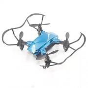 Wurenji Plegado De Aviones No Tripulados, Presión De Aire Fija, Control De Voz, Transmisión Inalámbrica En Tiempo Real Control Remoto Aéreo HD Drone (Color : Blue)