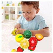 Maruti Realistic Sliceable Fruits Cutting Play Toy Set with Velcro Multi Colour