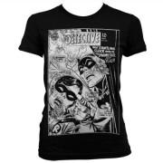 Batman - Dynamic Duo Distressed Girly T-Shirt, Girly T-Shirt
