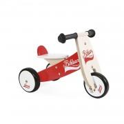 Janod - Bicicleta Sin Pedales Bikloon Color Rojo / Blanco