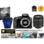 Nikon Kit Cámara Réflex NIKON D3500+AFP DX18/55+EST/EBOOK (24.78 MP - ISO: 100 a 25600 - Sensor: DX)