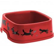Vas Cane, pentru animale de companie, roşu, 19,5 x 19,5 cm