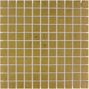 Mozaiektegel Barcelona Gold Hammered Porcelain 305x305