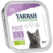 6x100г Yarrah Bio пастет, консервирана храна за котки - пиле и пуешко с алое вера
