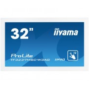 iiyama 32' PCAP WHITE Anti-glare Bezel Free 12-Points Touch Screen, 1920x1080, AMVA3 panel, 24/7 operation, VGA, DVI, HDMI, 420cd/m², 3000:1, 8ms, Landscape, Portrait or Face-up mode, USB Touch Interf