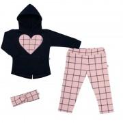 NEW BABY 3-dílná holčičí bavlněná souprava New Baby Cool Girls modro-růžová 43359