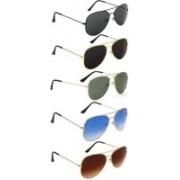 Ivonne Aviator Sunglasses(Black, Black, Green, Blue, Brown)