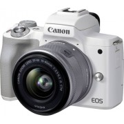 Canon - EOS M50 Mark II Mirrorless Camera with EF-M 15-45mm f/3.5-6.3 IS STM Zoom Lens - White