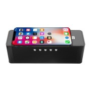 JY-28 Qi Wireless Fast Charger Bluetooth NFC Speaker Support Alarm Clock TF Card USB AUX