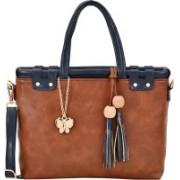 Butterflies Women Tan, Blue Sling Bag