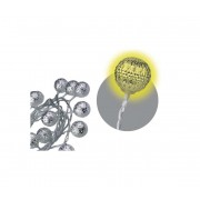 Decoratiuni de Craciun interior IP20 koule argint 3m 20xLED