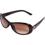 Veins Oval Sunglasses(Brown)