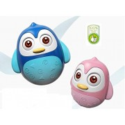 Push and Shake Wobbling Roly Poly Tumbler Doll, with Soft and Sweet Bell Sounds[New Version]