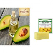 Pure and Natural Avocado Oil - 100ml with Argussy Lemon and Green Bean Whitening Spa Soap