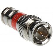 Fiche de connexion BNC à compression RG59 droit - Wizelec