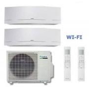 Daikin Climatizzatore Dual Emura 2mxs50h + 2 X Ftxg35lw-W 12+12 Wi-Fi