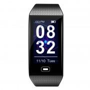 LEMONDA CK28 1.14 inch Color Screen Smart Bracelet Blood Pressure Monitoring Health Sports Watch USB Charging - Black