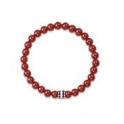 Tommy Hilfiger Red Agate Beaded Stretch Bracelet 2700678