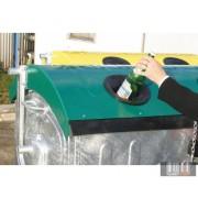 1100 l szelektív fém konténer -üveg